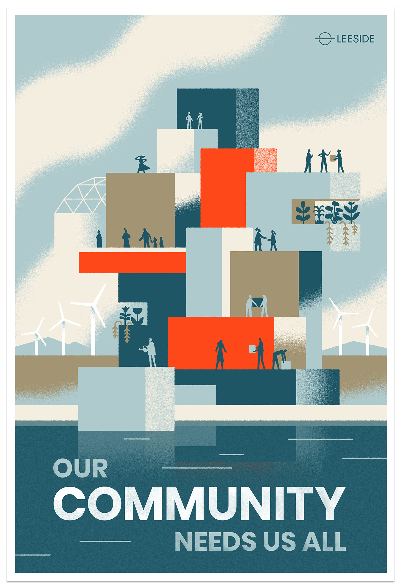 Poster: Our community needs us all.